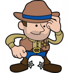 Cowboy sheriff vector