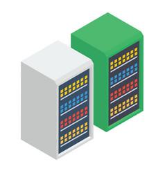 Data center rack vector