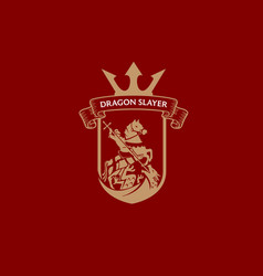 dragon slayer knight vector image