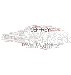 Dreamwork word cloud concept vector