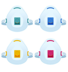 Flat industrial safety n95 medical respirator vector