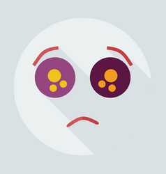 Flat modern design with shadow icons sad smiley vector