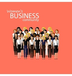 flat of women business community a large group of vector image