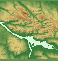Geographic information system banner with topograp vector