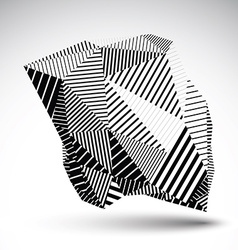 Geometric monochrome abstract 3D complicated vector image