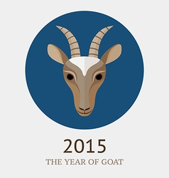 Goat symbol of 2015 vector