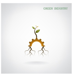 Green industry concept vector