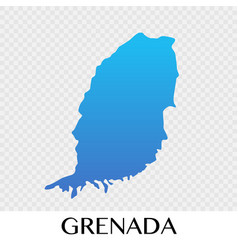 Grenada map in north america continent design vector