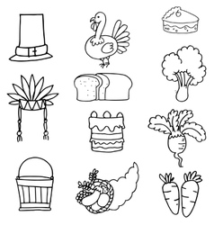 Hand draw of thanksgiving vegetable vector