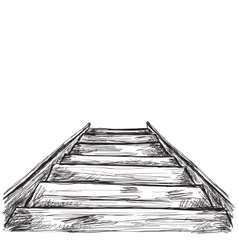 Hand drawn stairs sketch vector