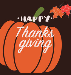 happy thanksgiving day card with decorative vector image