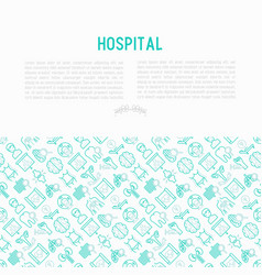 Hospital concept with thin line icons vector