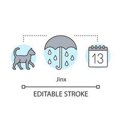 Jinx concept icon magic and superstition idea vector
