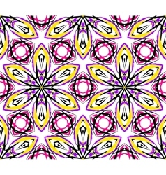 Kaleidoscopic Abstract Lily Pattern vector image