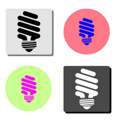 light bulb flat icon vector image
