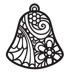 Mandala christmas bell vector