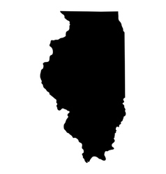 map us state illinois vector image