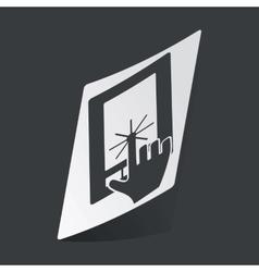 Monochrome touch screen sticker vector image