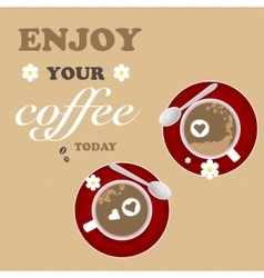 Mug Design Coffee Texture Brown Red Coffee vector