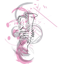 music instrument vector image