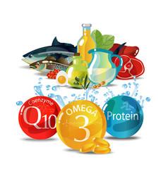 Natural fresh organic food vector