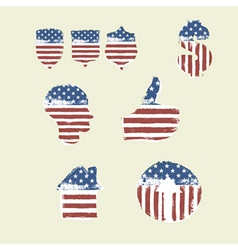 patriotic symbols composed flag part2 vector image
