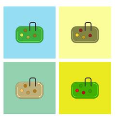 Pebble bag collection vector