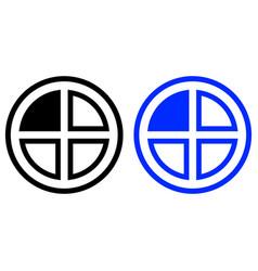 Pie chart icon vector