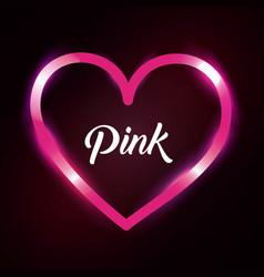 pink love heart romantic passion light dark vector image
