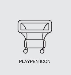 Playpen icon vector