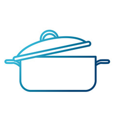 Pot with lid kitchen utensil vector