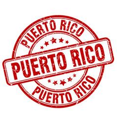 Puerto rico red grunge round vintage rubber stamp vector