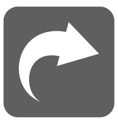 Redo flat squared icon vector