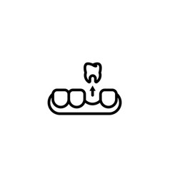 remove dental care gum tooth icon in black vector image