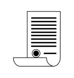 Scroll document with stamp icon image vector