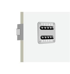 security door vector image