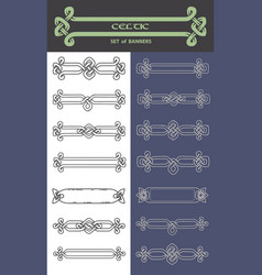 set of banners in celtic style vector image
