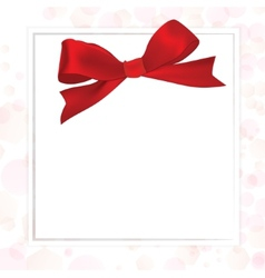 Shiny red satin ribbon vector image