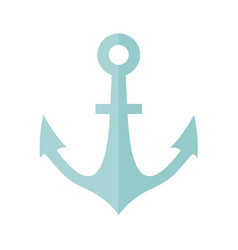 simple marine anchor vector image