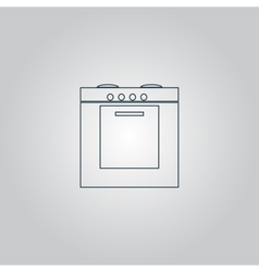 Stove icon sign and button vector image