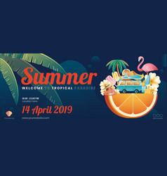summer element banner layout vector image