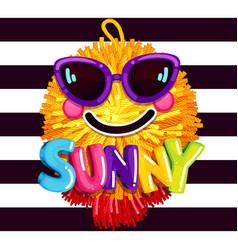 sunny smile sunglasses vector image