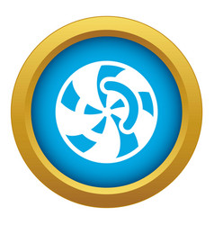 swirl icon blue isolated vector image