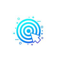 Target and cursor digital marketing icon vector