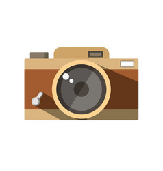 the vintage photo camera vector image