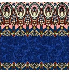 Ultramarine ornamental floral folkloric background vector
