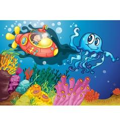 Under sea adventure vector