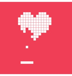 Valentines day card video game heart vector