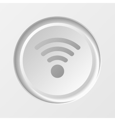 WiFi Button vector image