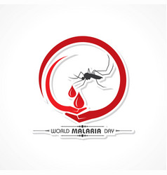 world malaria day vector image